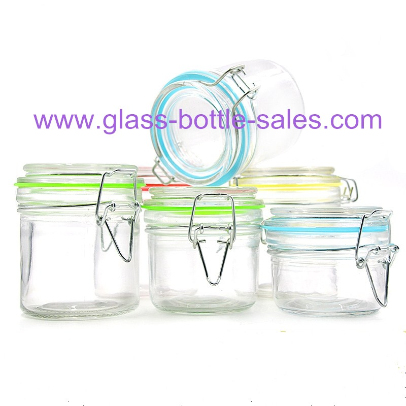 100ml,200ml,280ml Clear Airtight Glass Storage Jars With Clip Lids