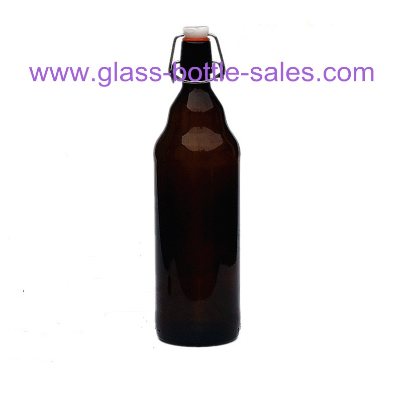 1000ml Amber Beer Glass Bottle With Swing Top