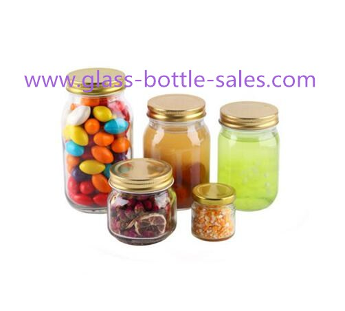 50ml-750ml Clear Glass Food Jars With Lids